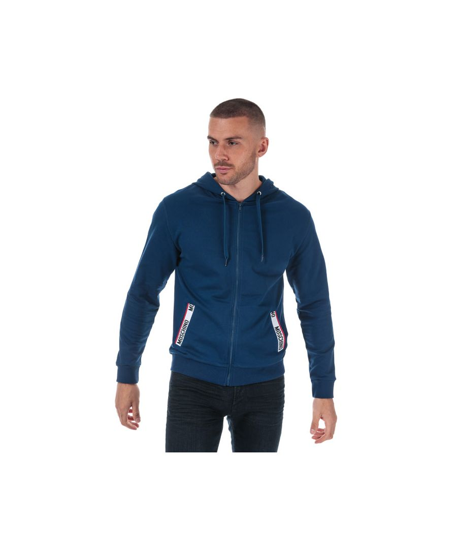 Image for Men's Moschino Zip Hoody in Navy