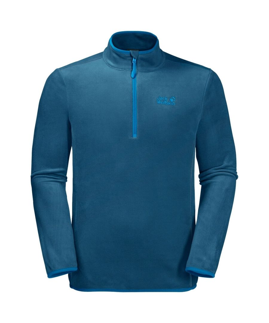 Image for Jack Wolfskin Echo 1/4 Zip Mens Fleece Sweatshirt Blue - M