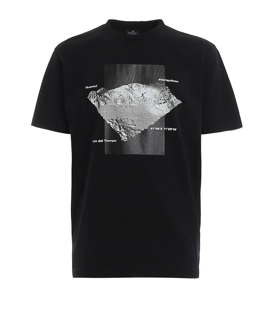 Image for MARCELO BURLON MEN'S CMAA018R20JER0141008 BLACK COTTON T-SHIRT