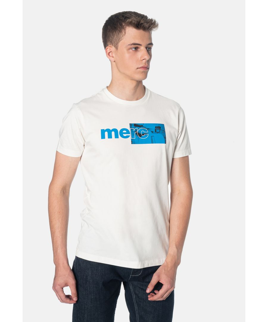 Image for Fanshaw Branded Print Men's T-Shirt With Scooter in Off White