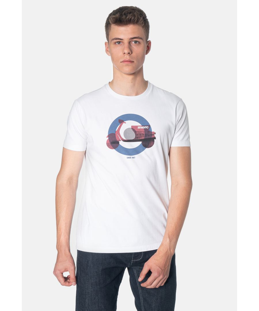 Image for Baltic Scooter Printed Men's T-Shirt in White