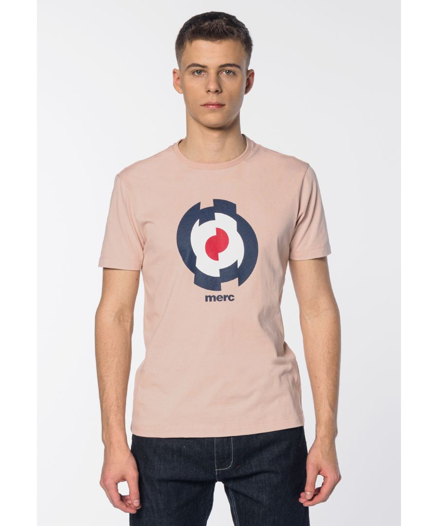 Image for Gunson Target Print Men's T-Shirt in Light Salmon