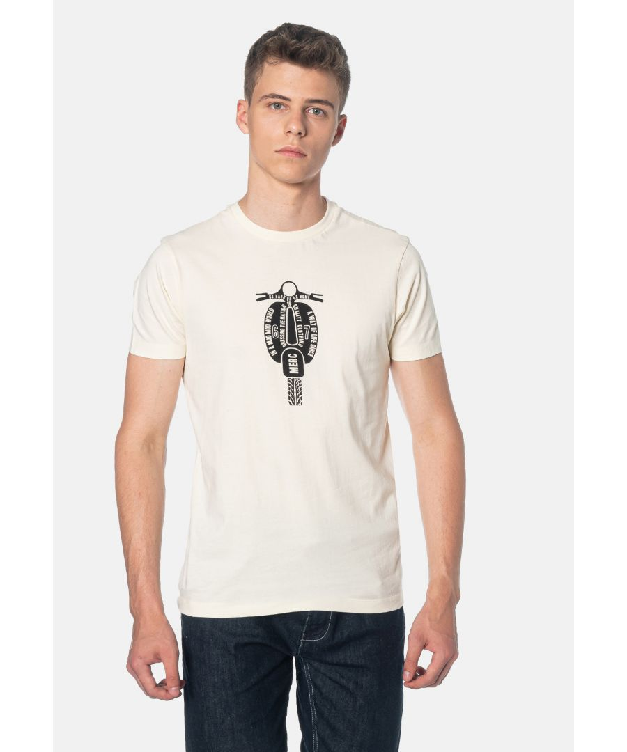 Image for Cullum Scooter Printed Men's T-Shirt in Cream