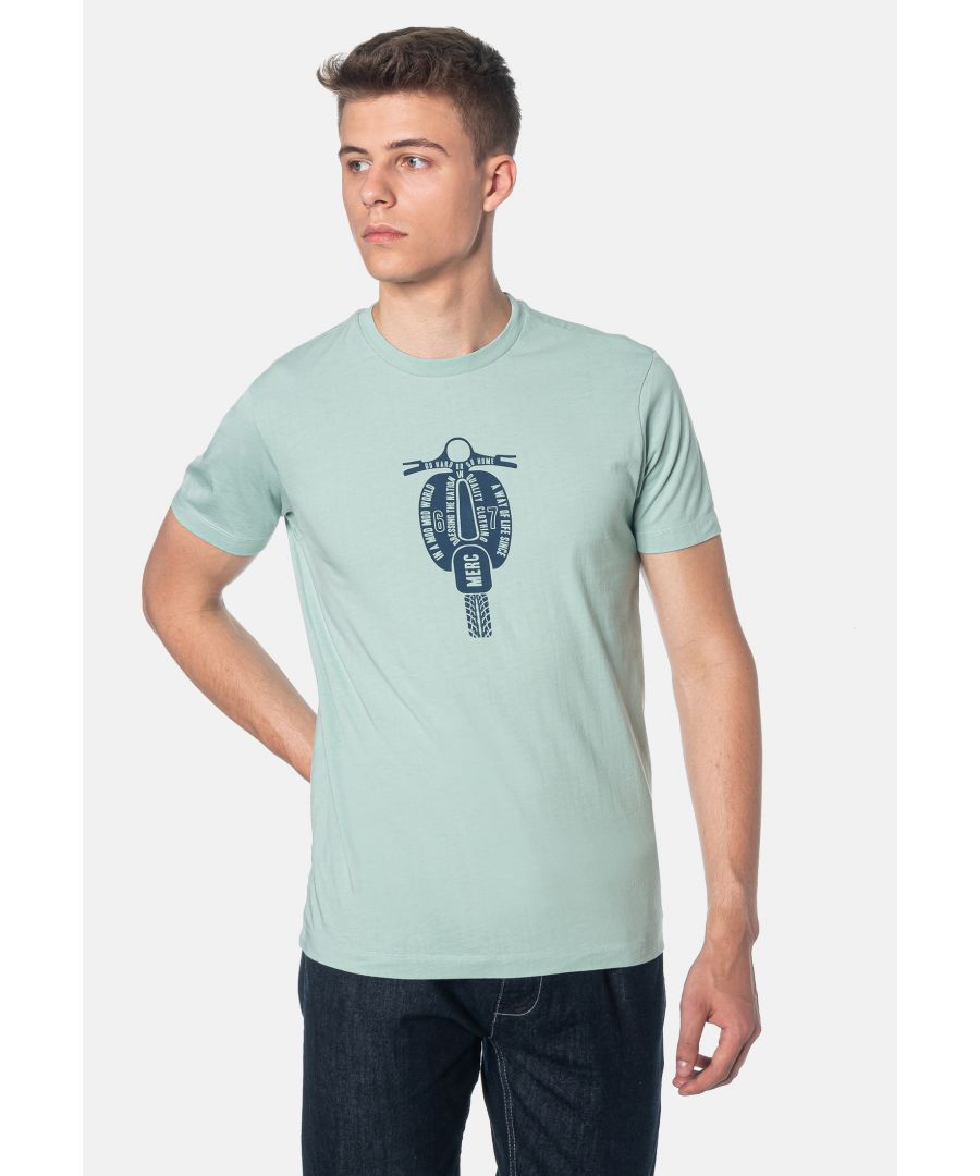 Image for Cullum Scooter Printed Men's T-Shirt in Sea Green