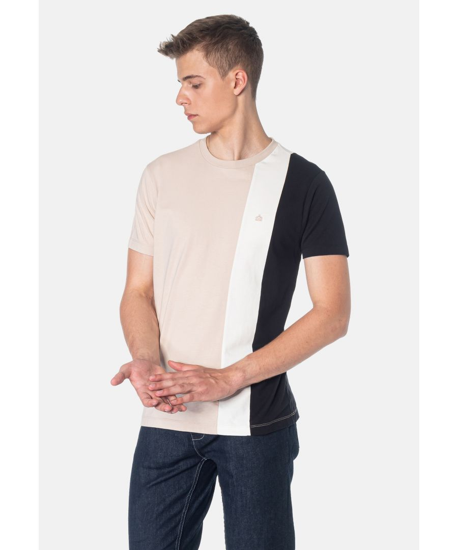 Image for Naples Colour Blocks Men's T-Shirt in Stone