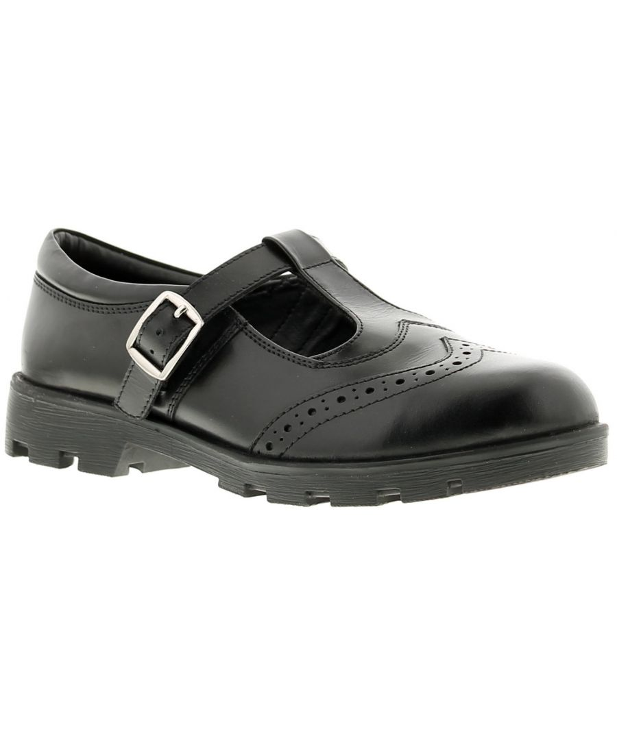 Image for Love Leather bridie Older leather Girls School Shoes Black