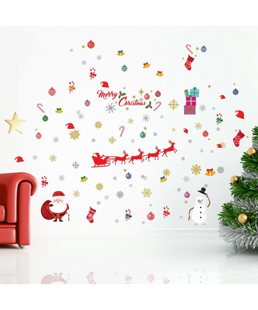 Image for WFXC8320 - WS3324 + WS3323 + WS3322 - Colourful Christmas Wall Stickers