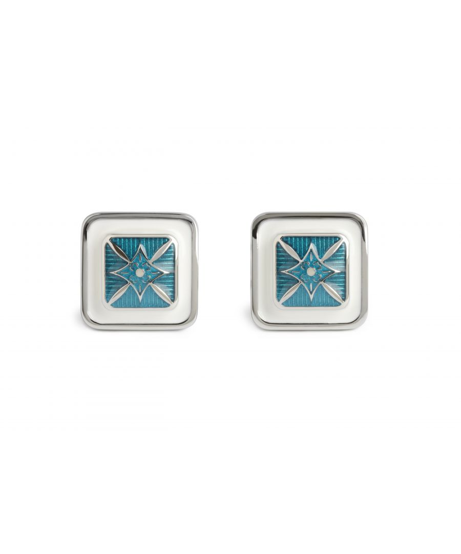 Image for Blue Star Square Cufflinks