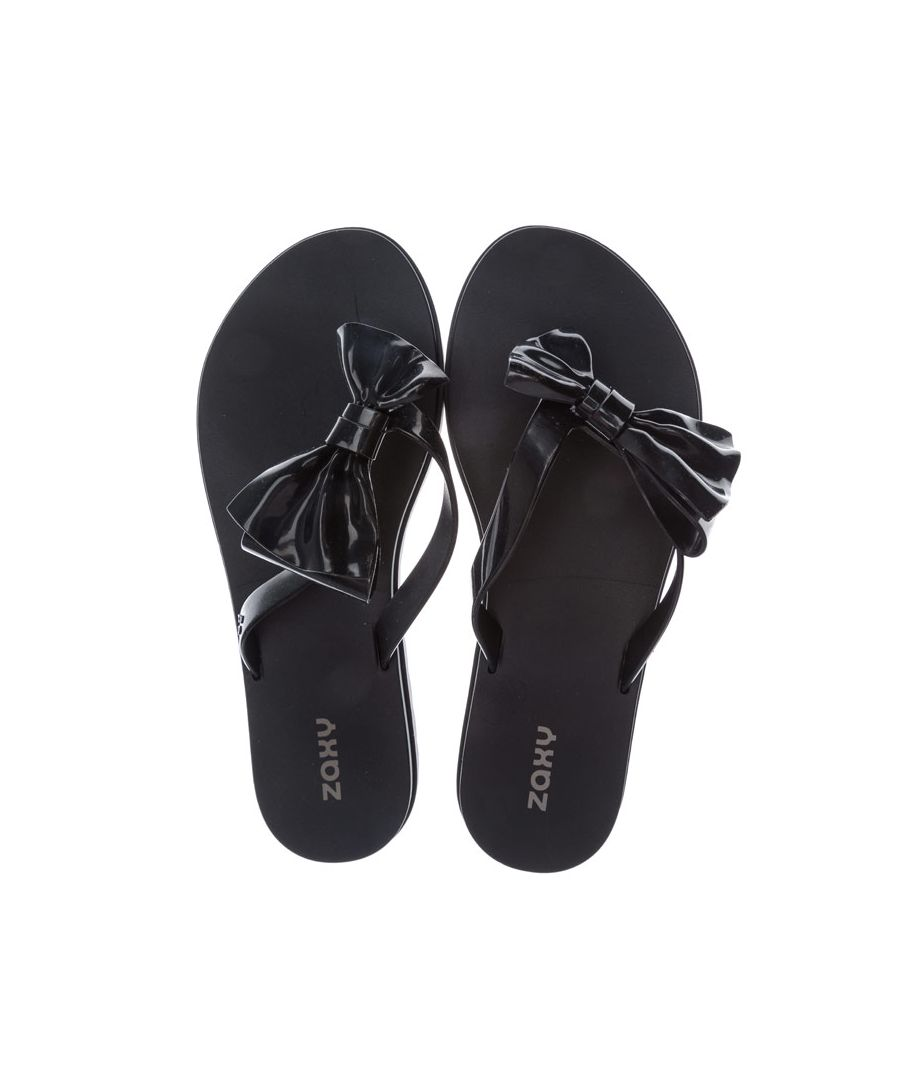 Image for Women's Zaxy Fresh Seduce Bow Flip Flops in Black