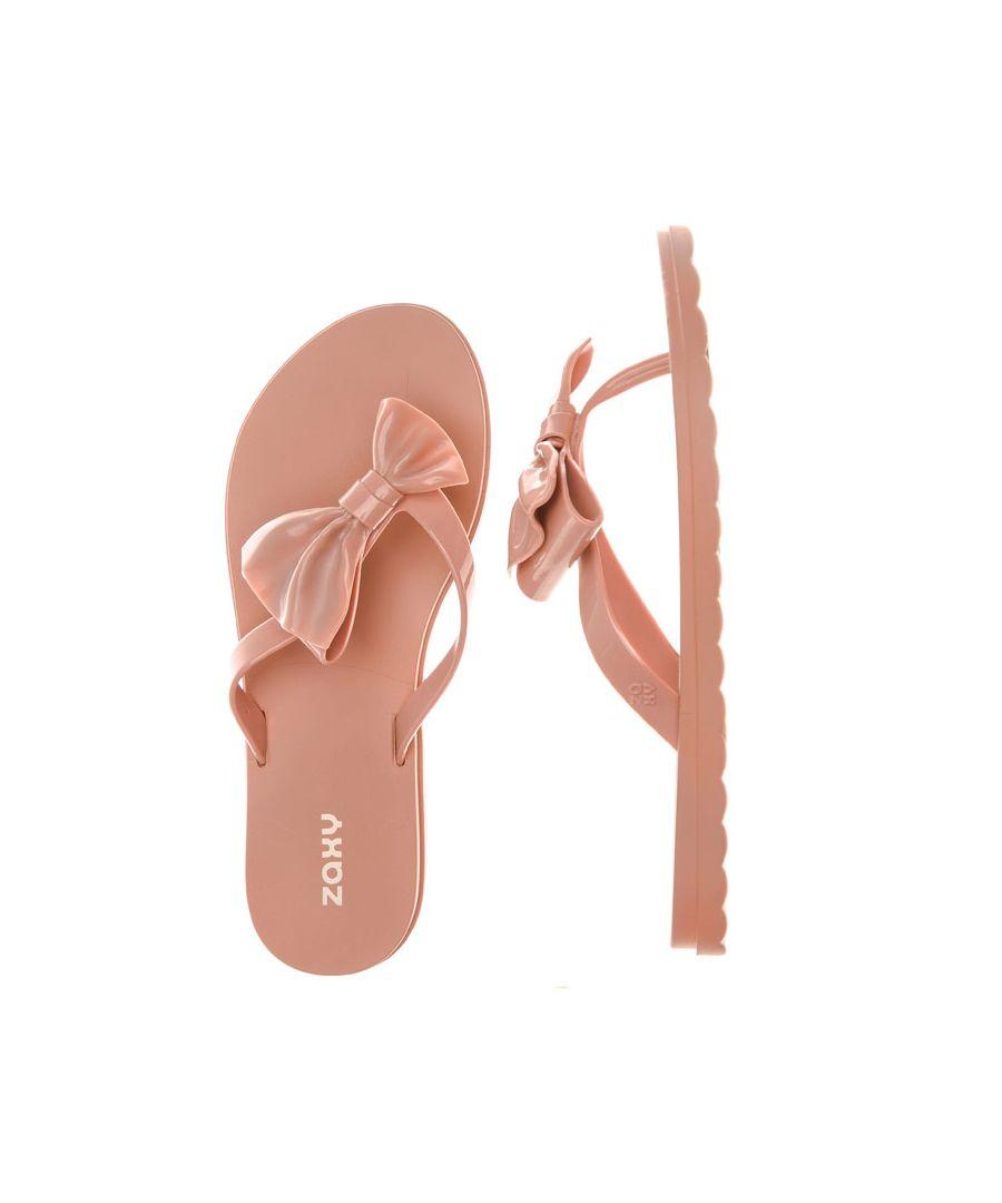 Image for Women's Zaxy Fresh Seduce Bow Flip Flops in Nude
