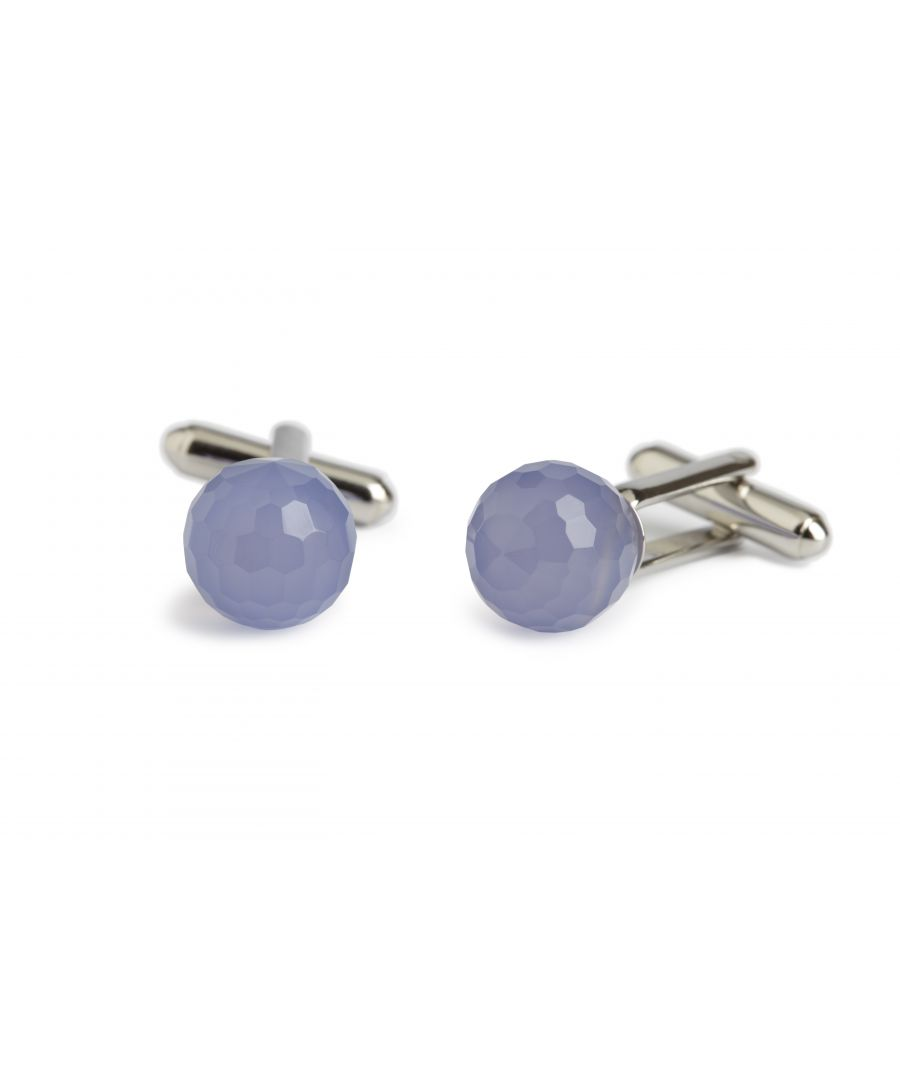 Image for Blue Agate Ball Cufflinks