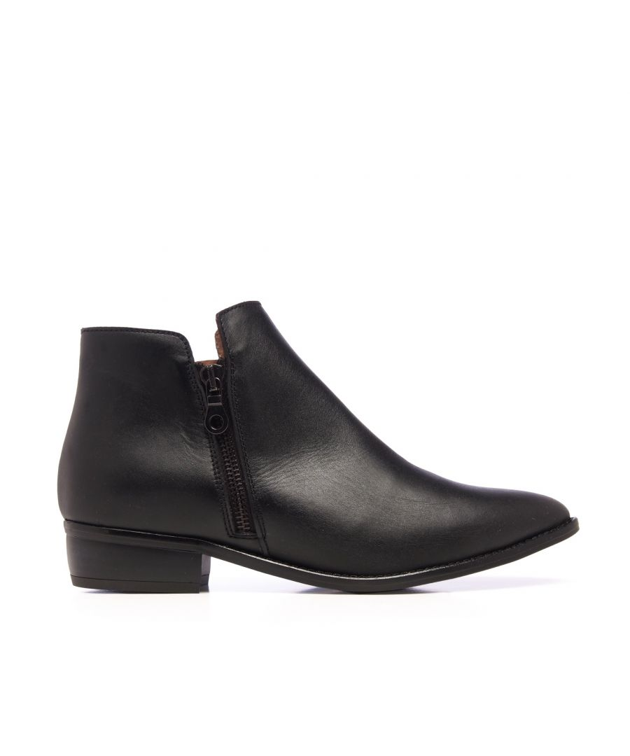 Image for Eva López Leather Ankle Boots Black Woman