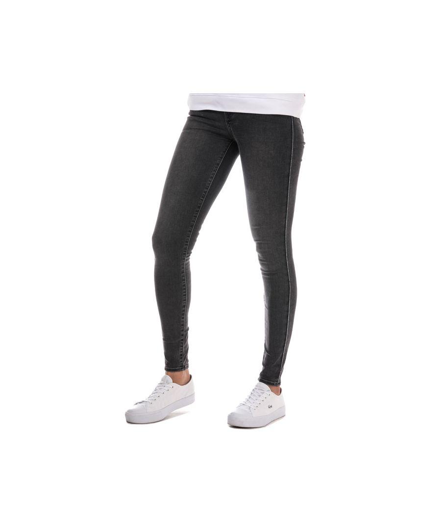 Image for Women's Levis 710 Super Skinny Zip Past Jeans in Black