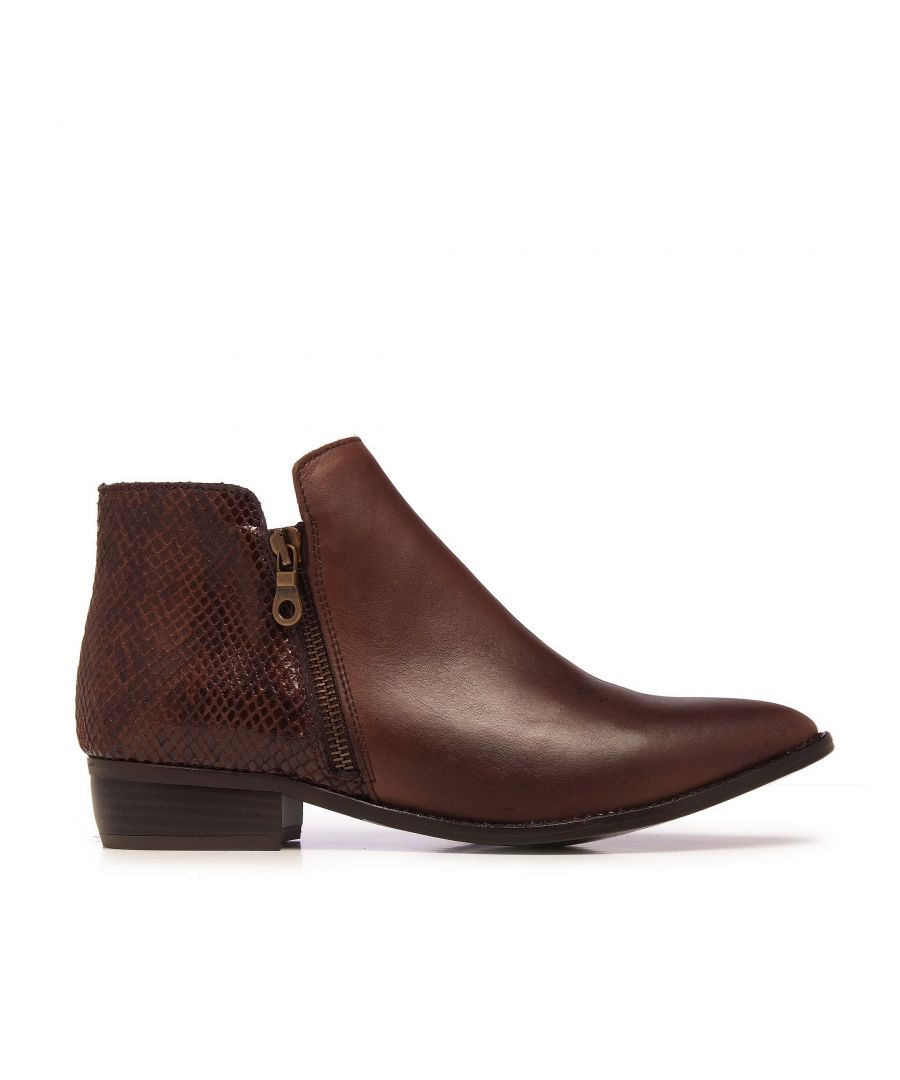 Image for Eva López Leather Ankle Boots Brown Woman