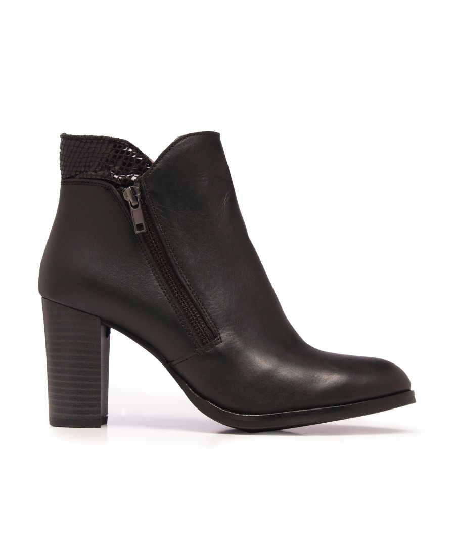 Image for Eva López Leather Ankle Boots Heel Black Woman