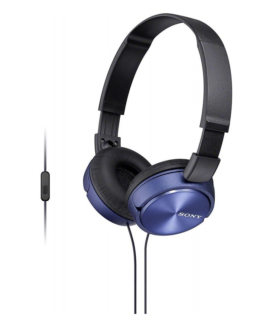 Image for Headphones Sony MDR-ZX310 with closed headband (with microphone, integrated remote control), Blue