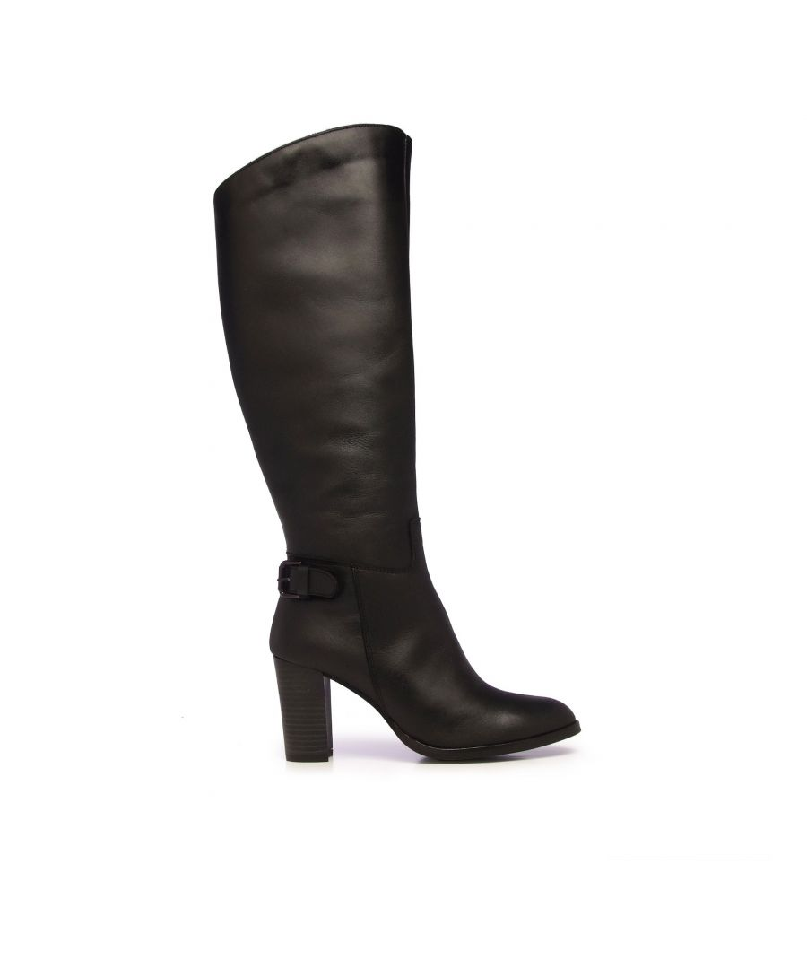 Image for Eva López Leather High Boot Heel Women Black