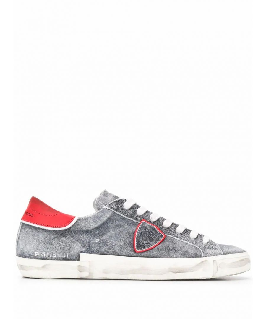 Image for PHILIPPE MODEL MEN'S PRLUWL01 GREY LEATHER SNEAKERS