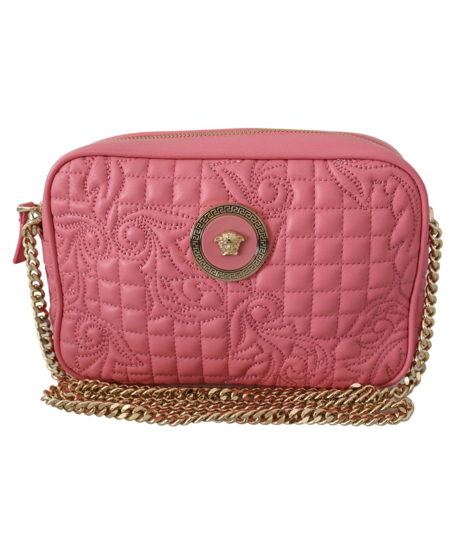 Image for Versace Quilted Nappa Leather Clutch Shoulder Handbag