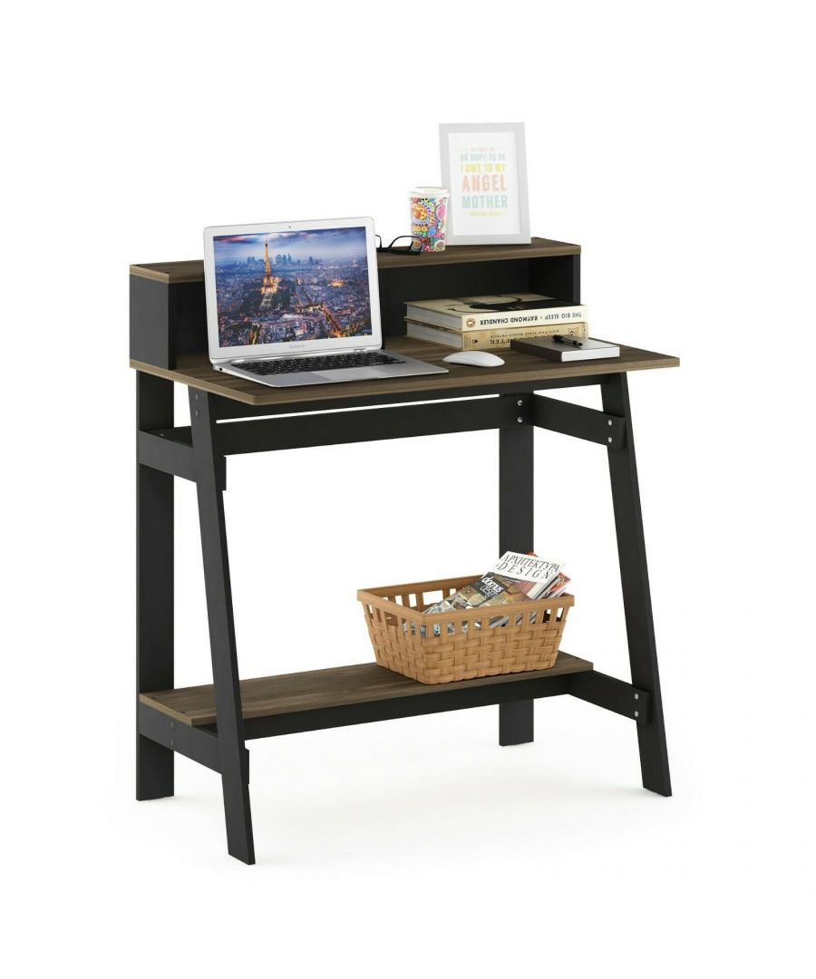 Image for Furinno Simplistic A Frame Computer Desk, Columbia Walnut