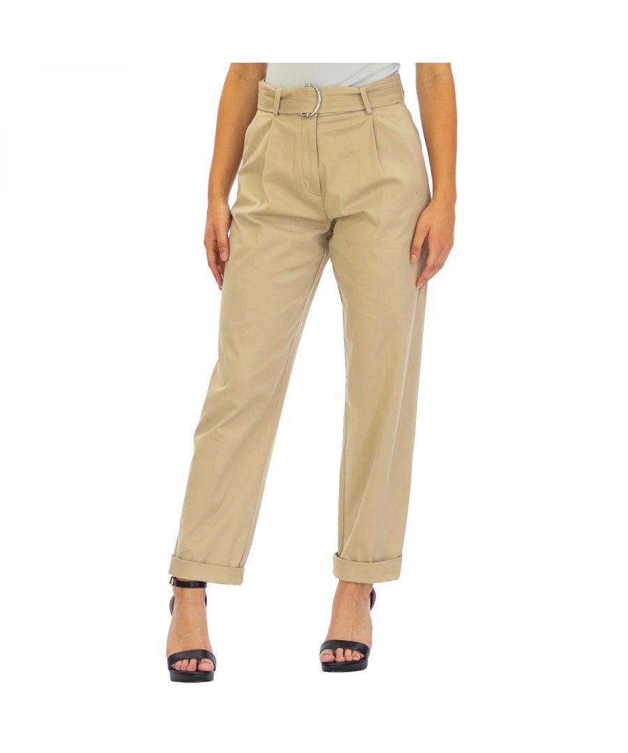 Image for Tommy Hilfiger Women's Pants Ankle Length Beige