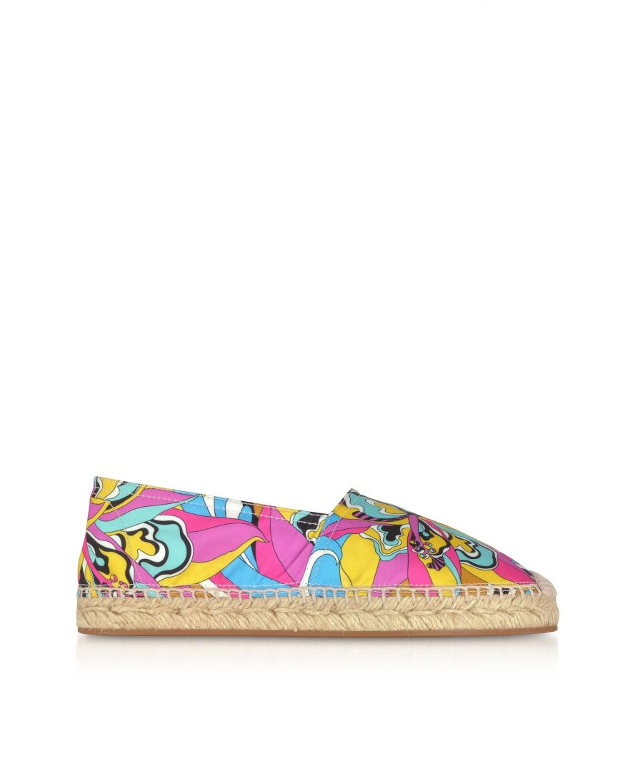 Image for EMILIO PUCCI WOMEN'S 9ECE019EX69A66 PINK POLYESTER ESPADRILLES