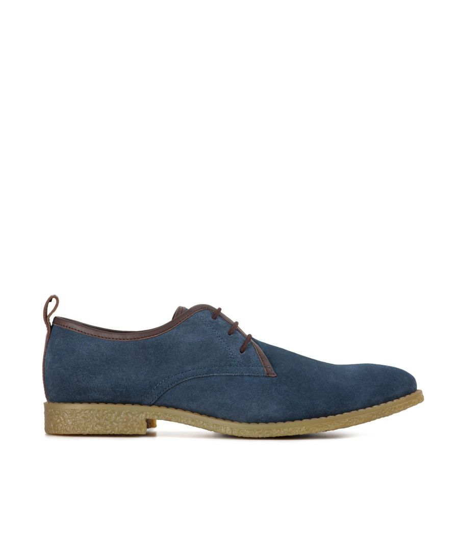 Image for Redfoot Lewis Navy Suede Desert Shoe