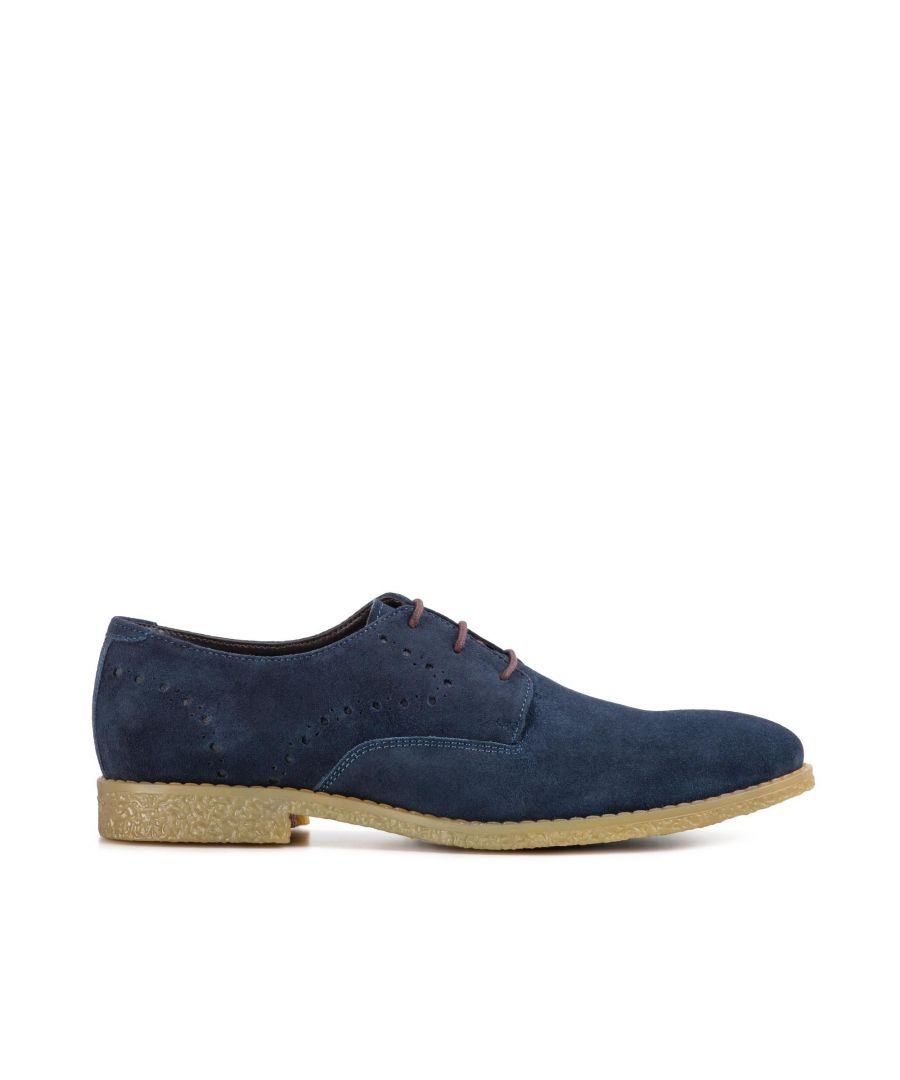 Image for Redfoot Wilson Navy Suede Brogue