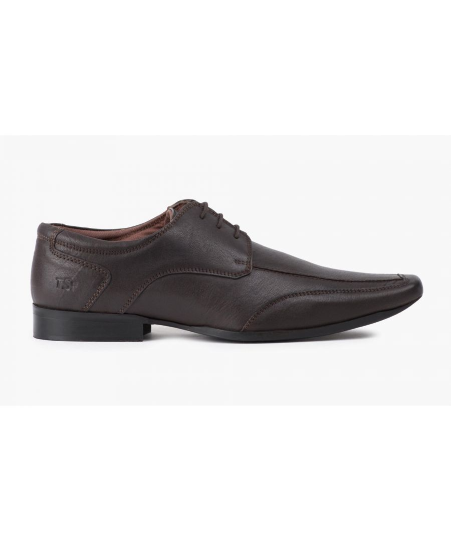 Image for Redfoot Mens Brown Chiselled Toe Derby