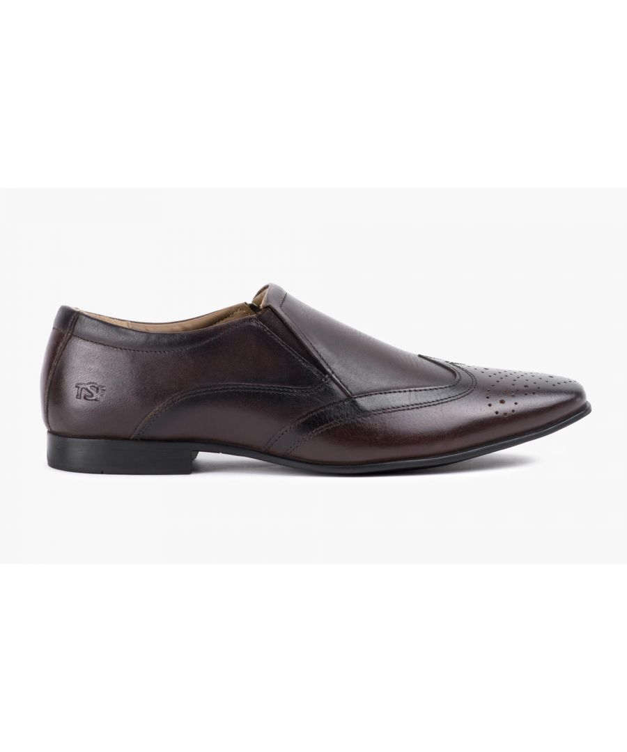 Image for Redfoot Mens Brown Slip On Shoe