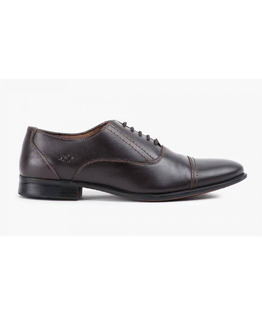 Image for Redfoot Mens Brown Oxford Toe Cap