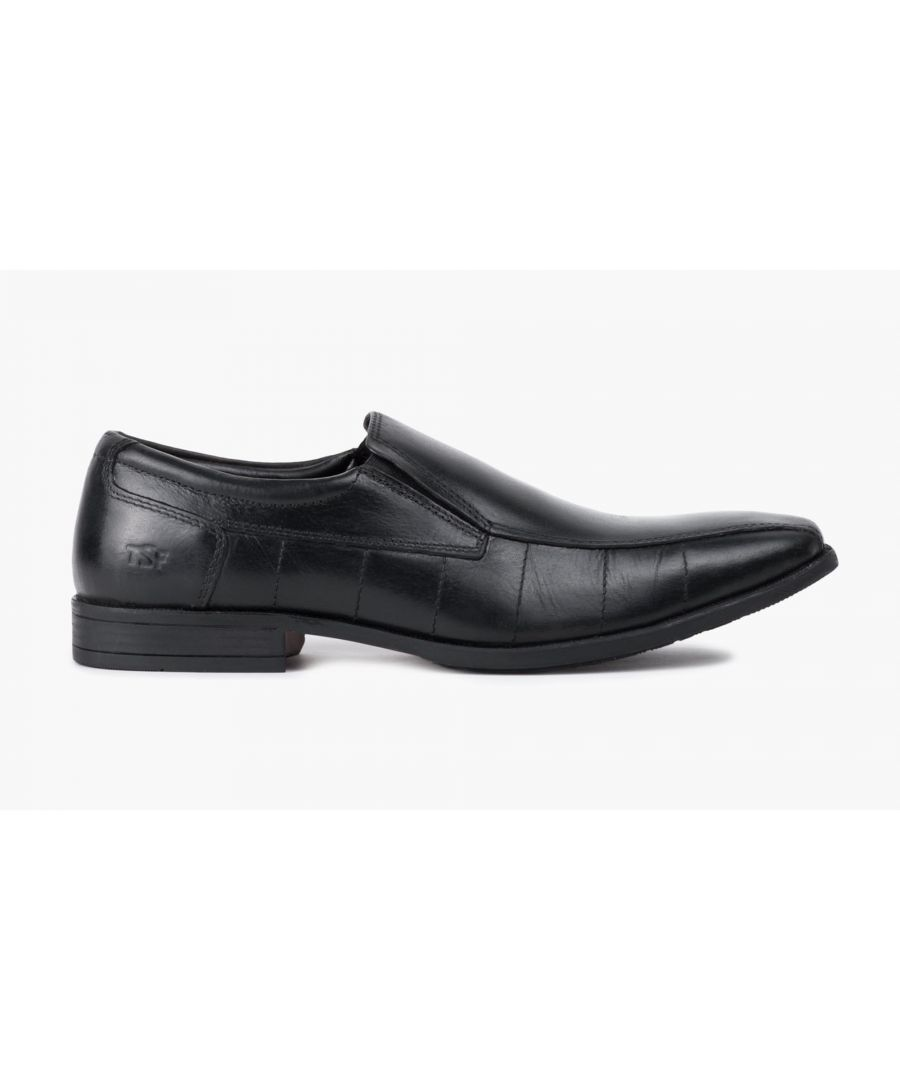 Image for Redfoot Mens Black Leather Slip On