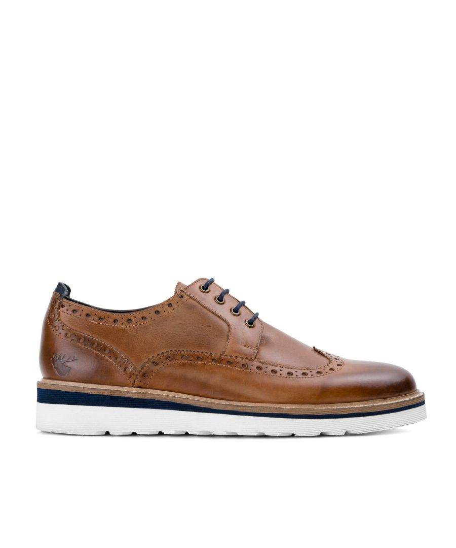 Image for Goodwin Smith Ripley Tan Casual Leather Brogue Shoe