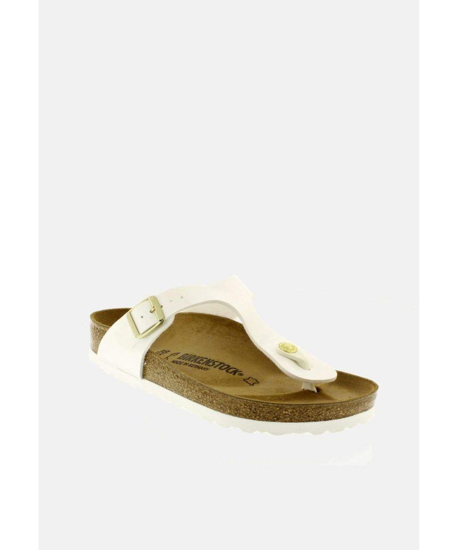 Image for Birkenstock Gizeh Regular Fit Patent White 1005299