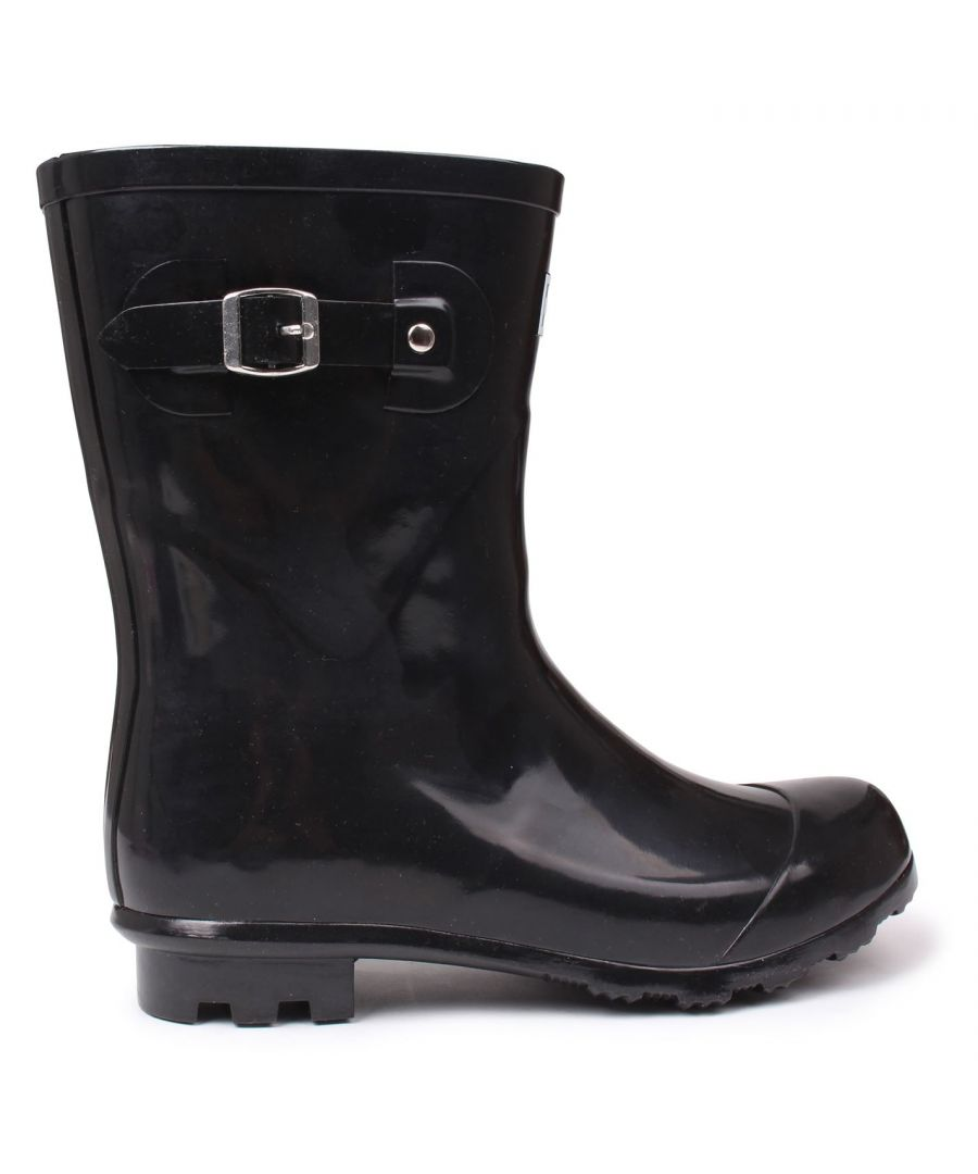 Image for Kangol Womens Low Ladies Wellies Slip On Wellington Boots Rubber Rain