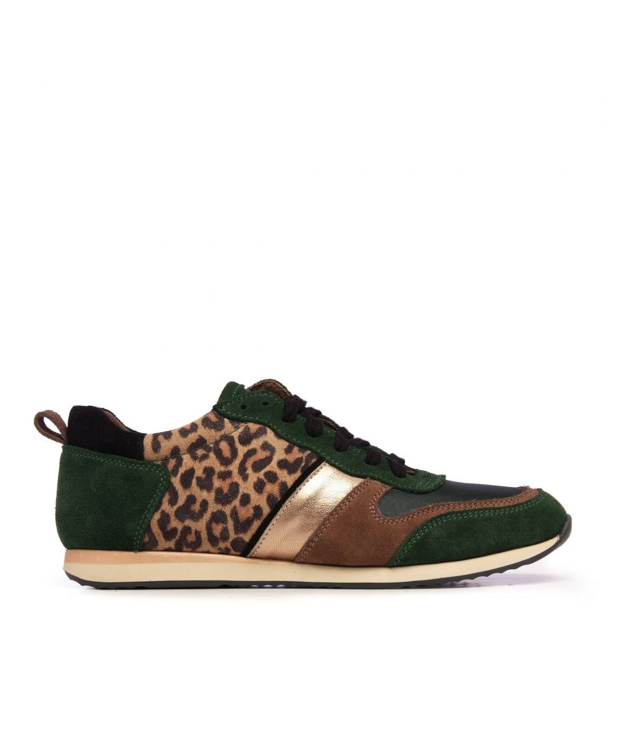 Image for Eva López Leather Sneaker Women Laces Green Shoes