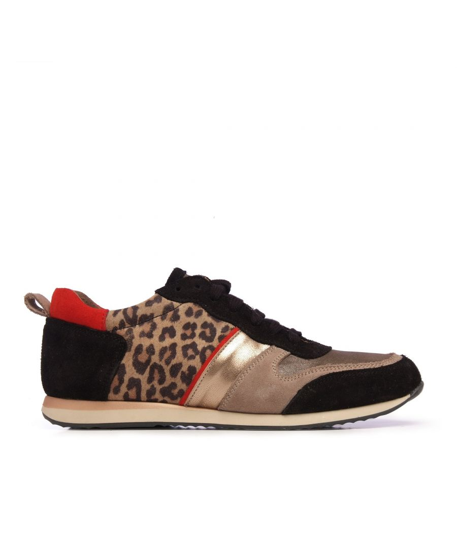 Image for Eva López Leather Sneaker Women Laces Black Shoes
