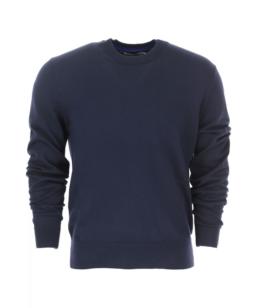 Image for CALVIN KLEIN MEN'S K10K103690484 BLUE COTTON SWEATER