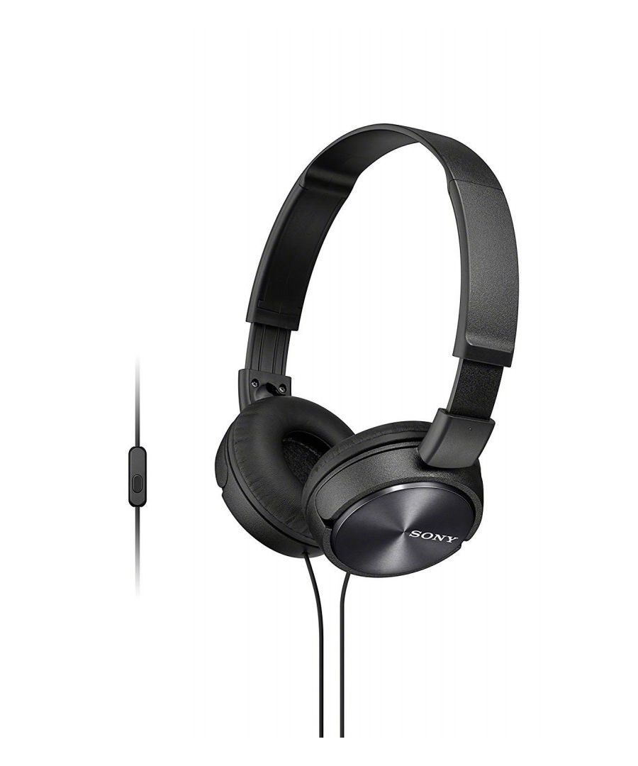 Image for Headphones Sony MDR-ZX310 with closed headband (with microphone, integrated remote control), Black