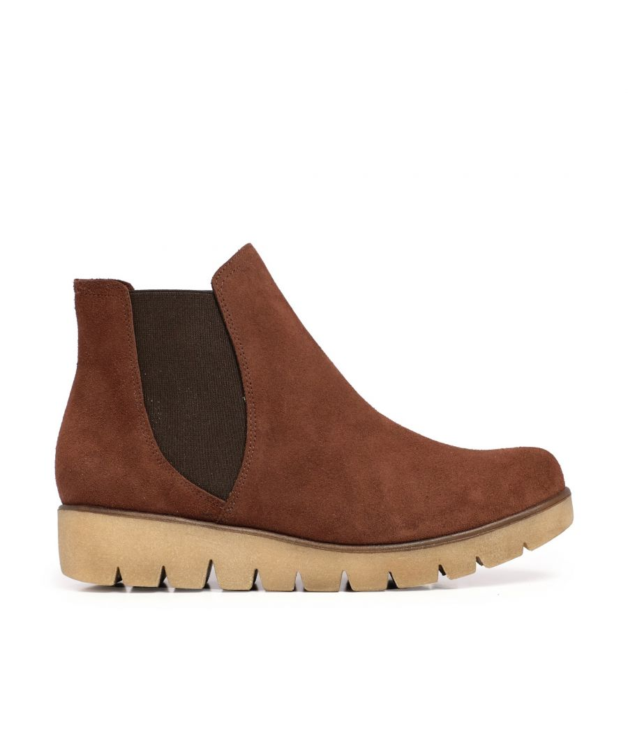 Image for María Barceló Leather Chelsea Ankle Boots Brown Woman