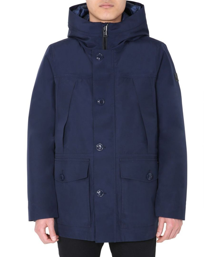 Image for WOOLRICH MEN'S WOOU0179MRUT20503827 BLUE POLYESTER OUTERWEAR JACKET