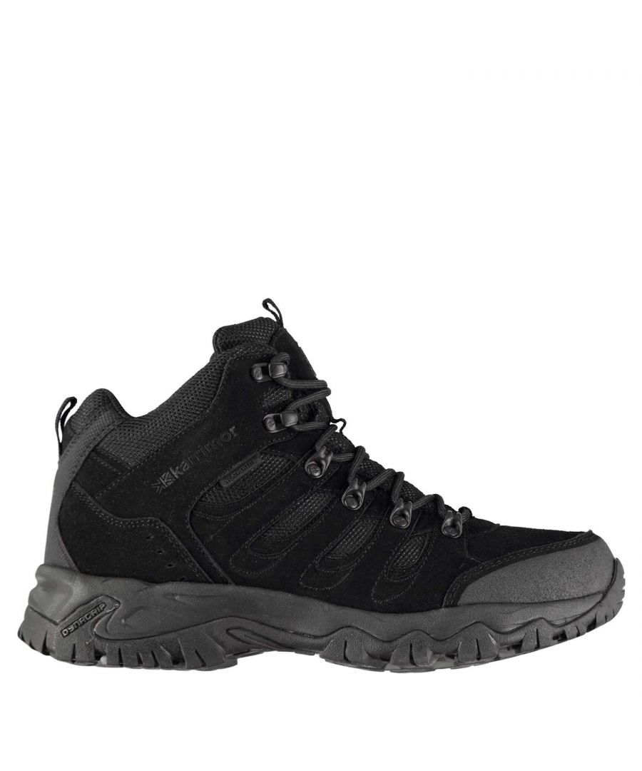 Image for Karrimor Mens Mount Mid Walking Boots Shoes Breathable Lace Up Hiking Trekking
