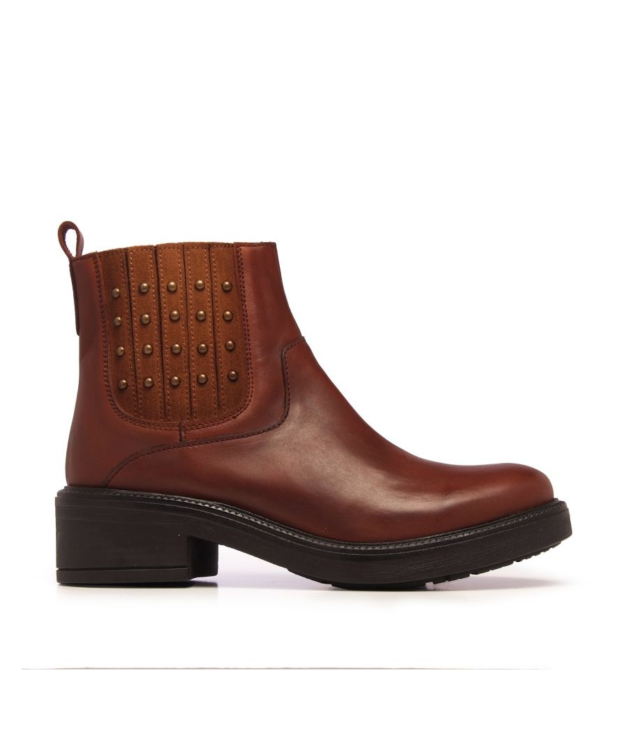Image for María Barceló Leather Ankle Chelsea Boots Brown Color Women