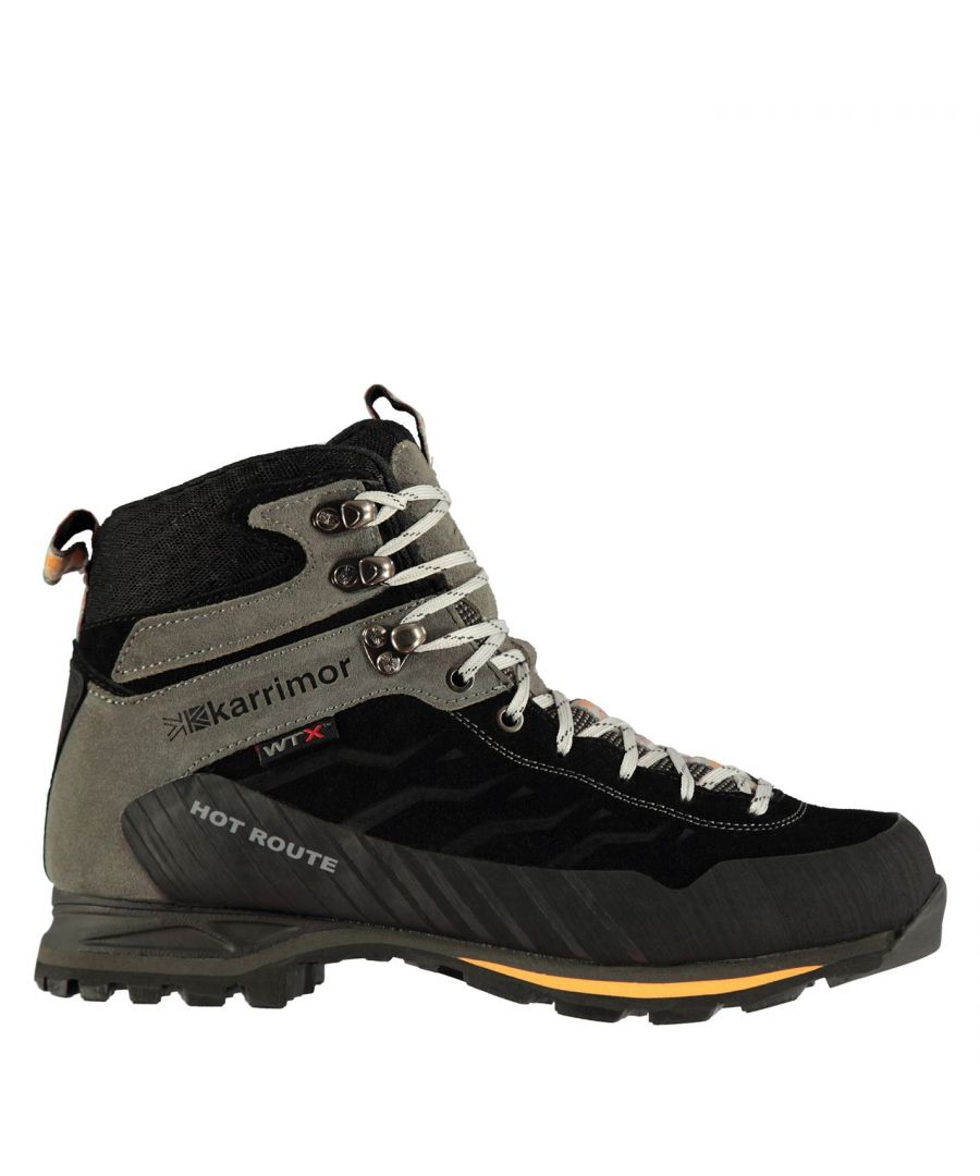 Image for Karrimor Mens Hot Route Mid Walking Boots Lace Up Breathable Waterproof Leather