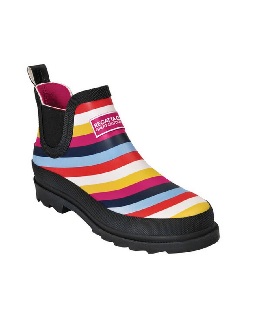 Image for Regatta Great Outdoors Womens/Ladies Harper Low Cut Wellington Boots (Multicoloured Stripe)
