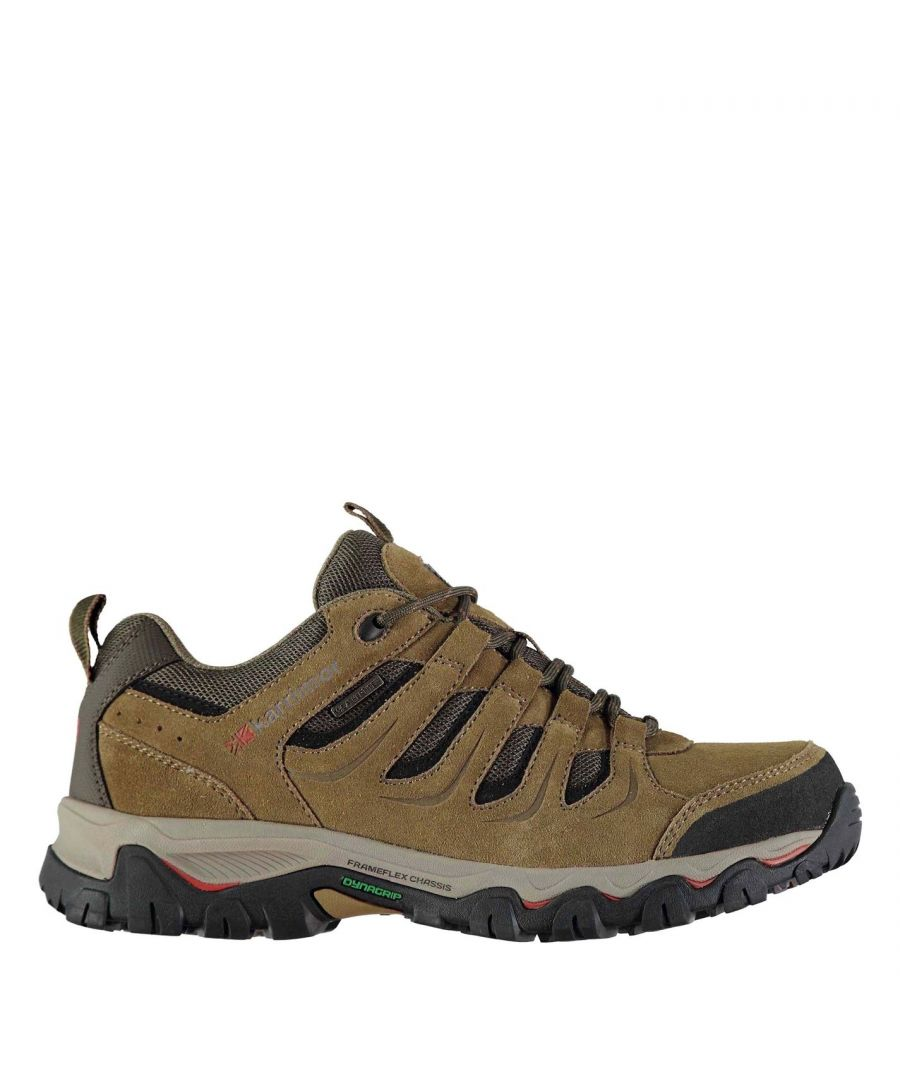 Image for Karrimor Mens Mount Low Walking Shoes Lace Up Treking Hiking Weathertite