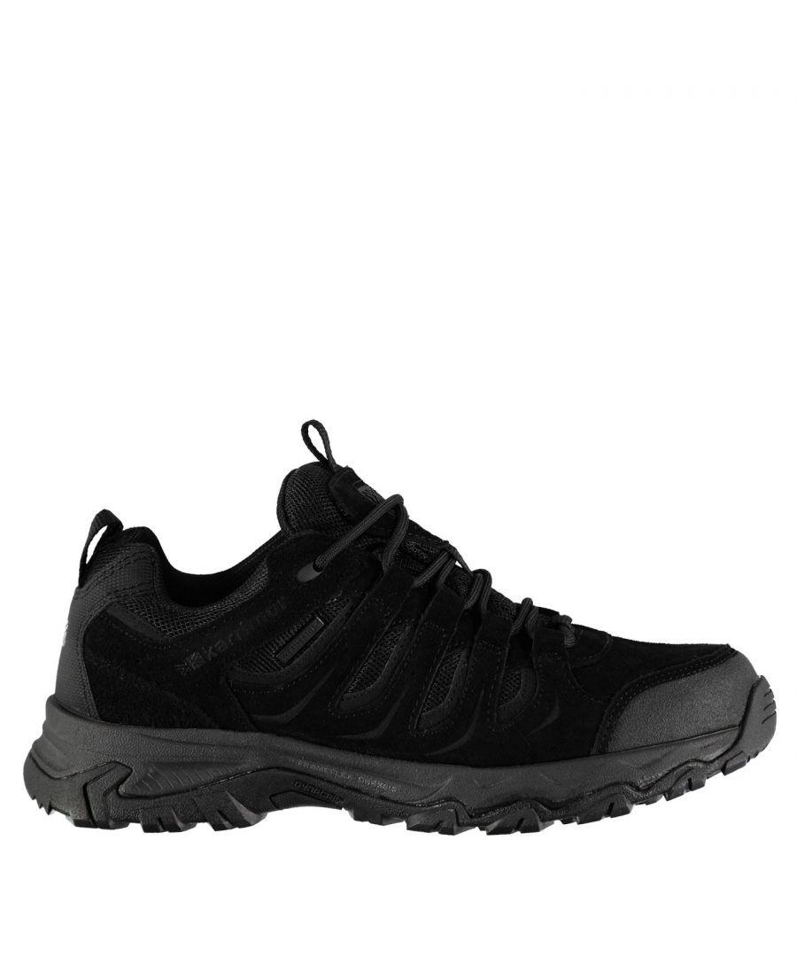 Image for Karrimor Mens Mount Low Walking Shoes Lace Up Treking Hiking Weathertite
