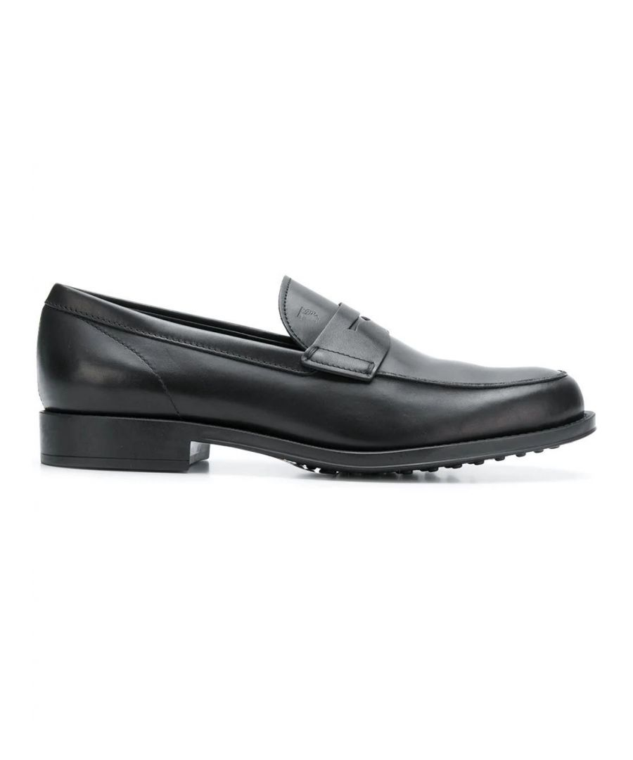 Image for TOD'S MEN'S XXM0UD00640D90B999 BLACK LEATHER LOAFERS