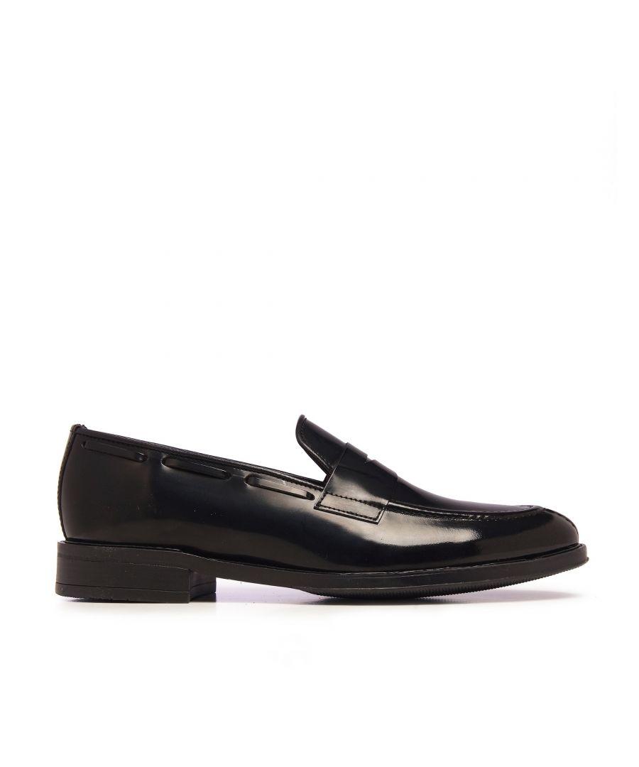 Image for Castellanisimos Leather Black Moccasin Mask Men Shoes