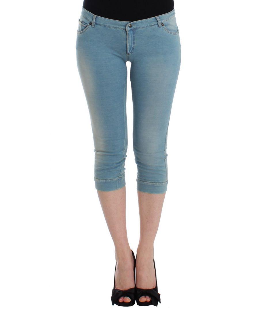 Image for Ermanno Scervino Blue Capri Pants Cropped Jeans